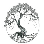 Illustration, BW, Tree of Life