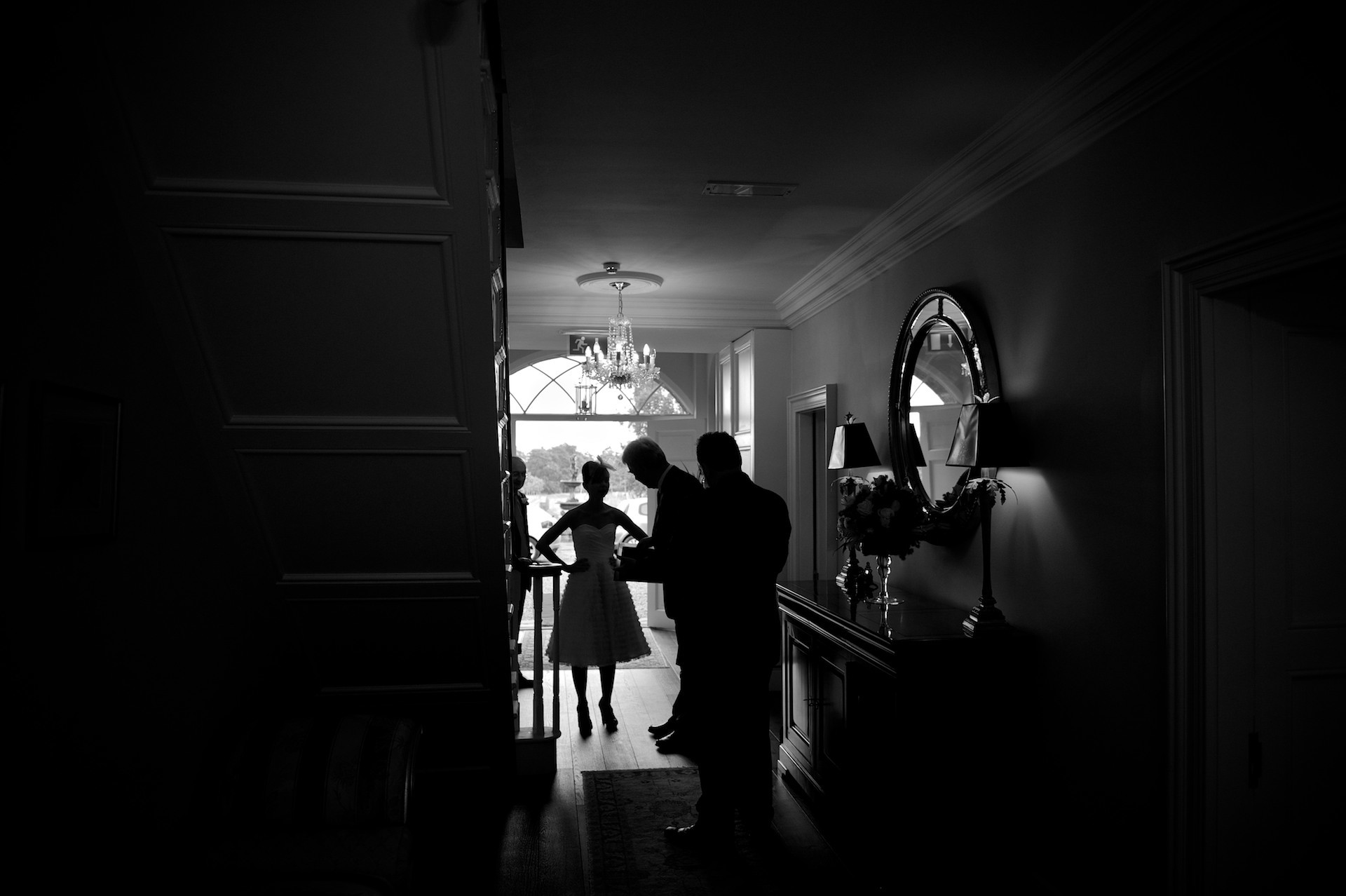 Bride in hall Ballymagarvey Village Wedding Meath