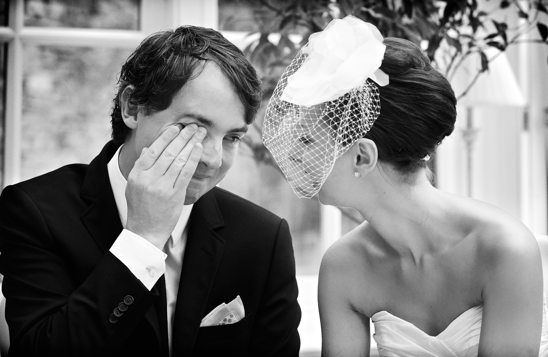 Groom crying Ballymagarvey Village Wedding Meath