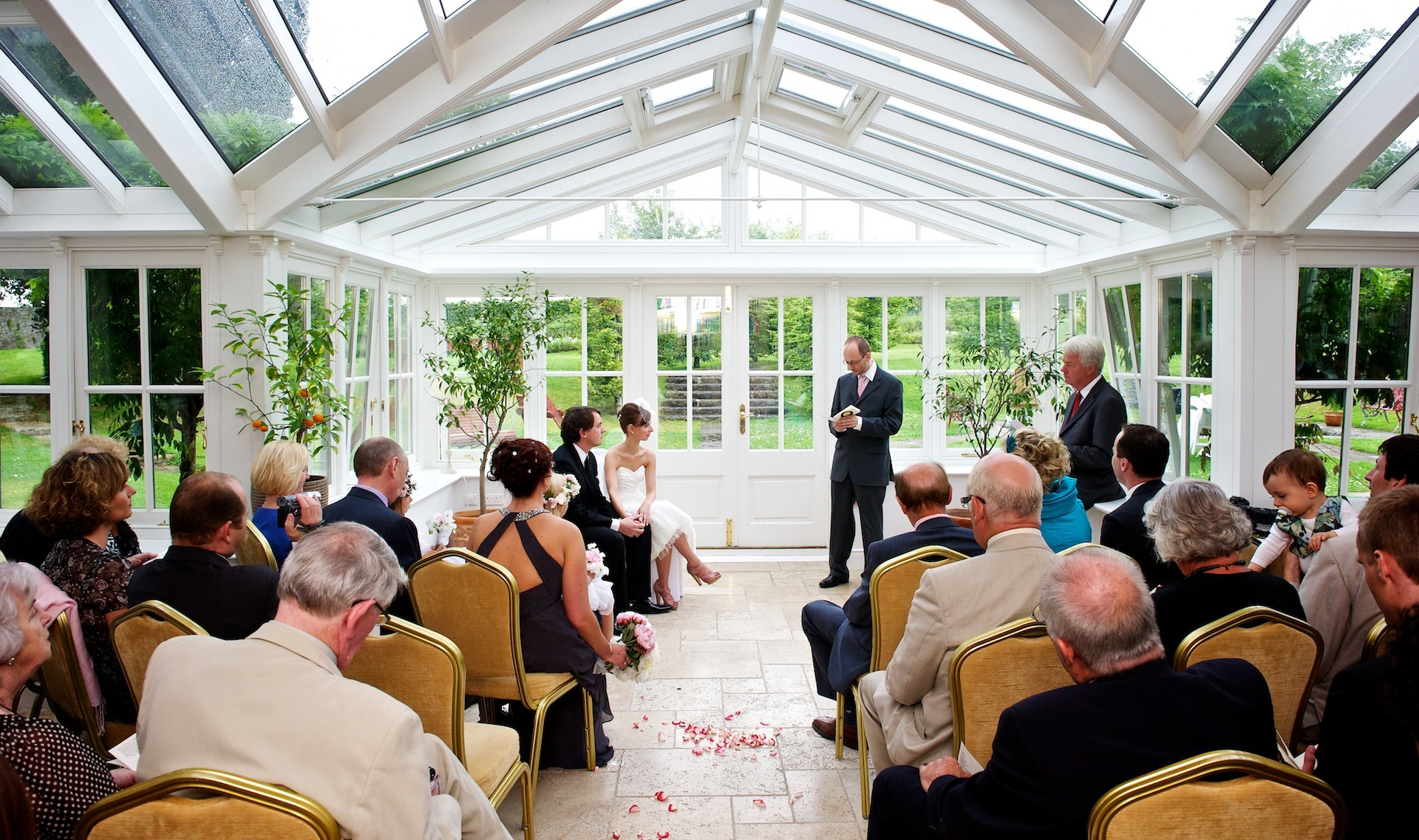 Wedding Ceremony  Ballymagarvey Village Wedding Meath