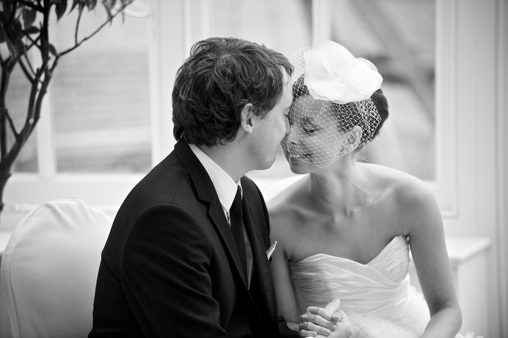 Bride and groom embracing  Ballymagarvey Village Wedding Meath