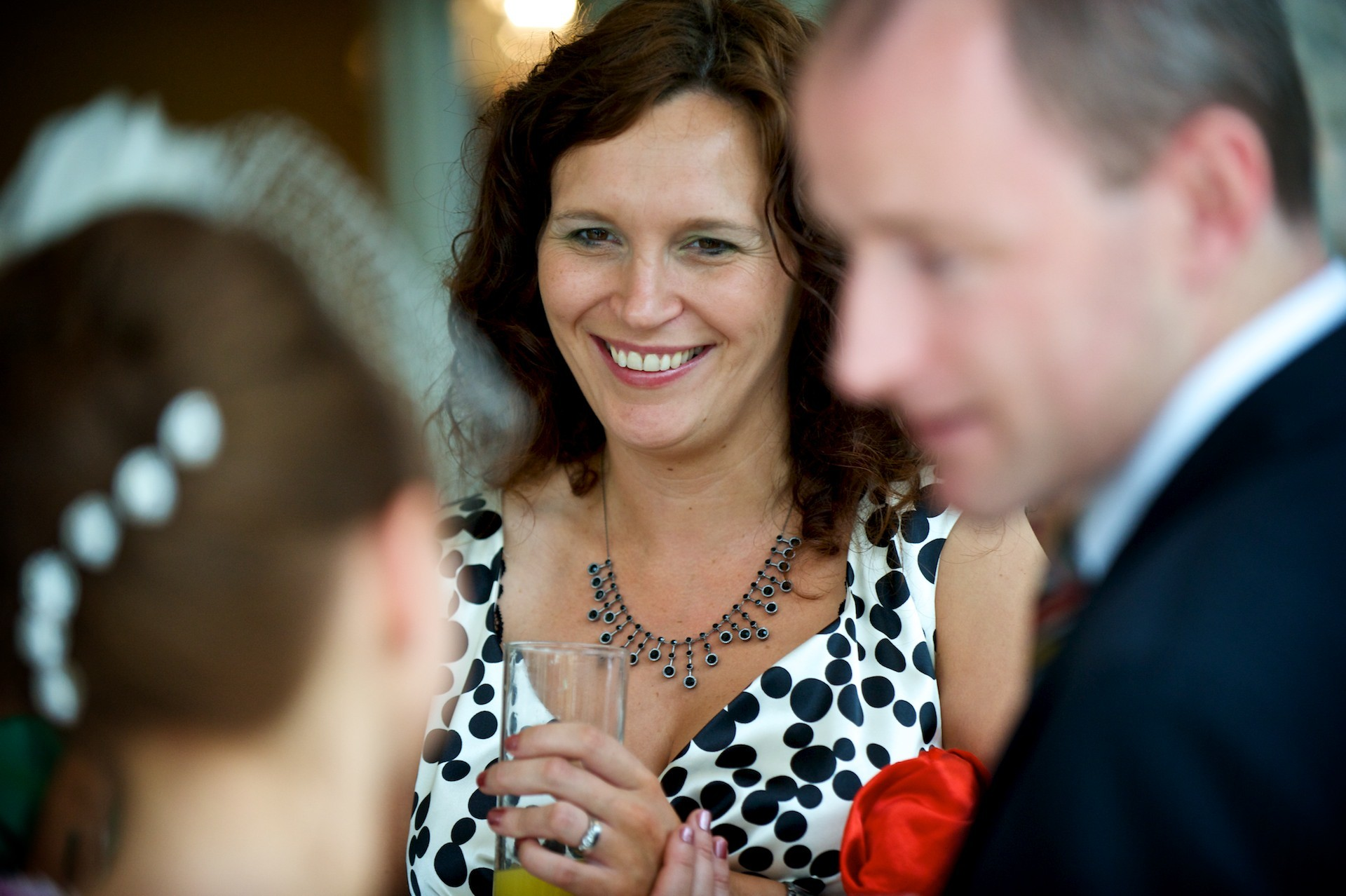 Guests smiling  Ballymagarvey Village Wedding Meath