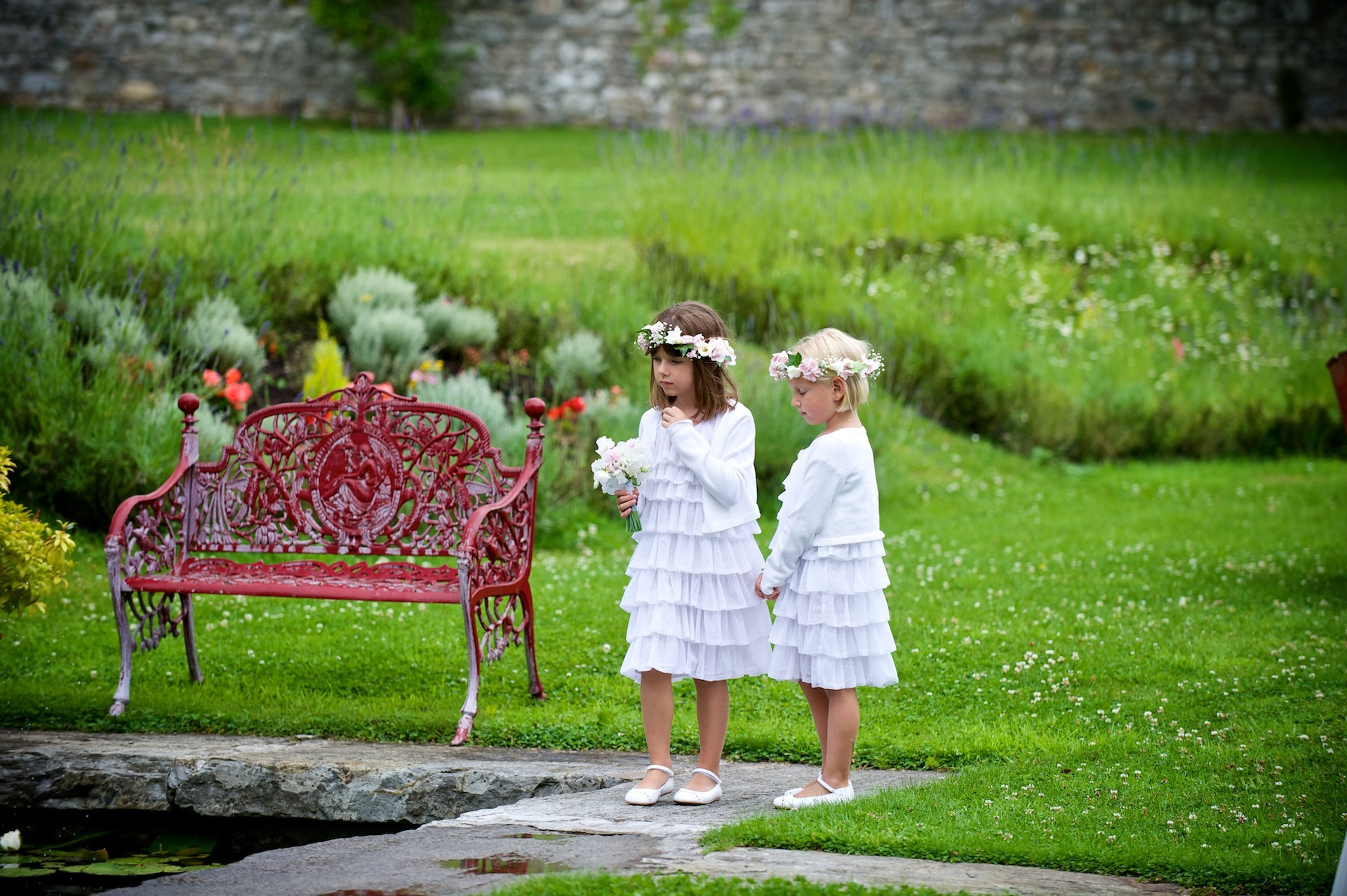 flower girls  Ballymagarvey Village Wedding Meath