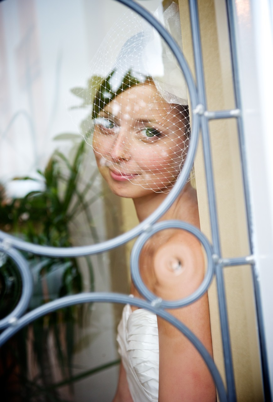 Door bride Ballymagarvey Village Wedding Meath