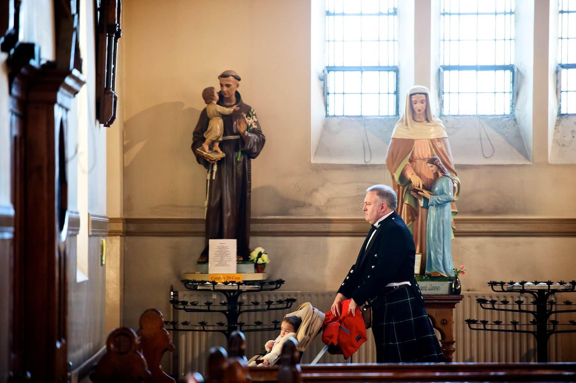008 Wedding St Michaels Church Inchicore Child in Pram