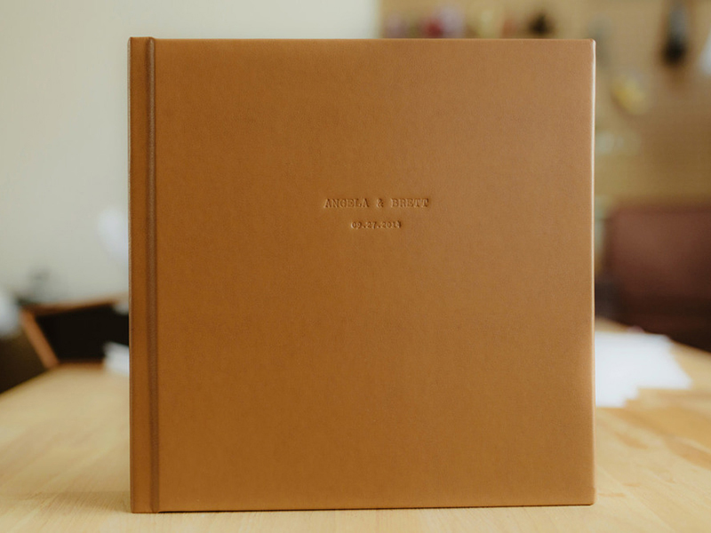 Fine Art Wedding Album Leather Cover