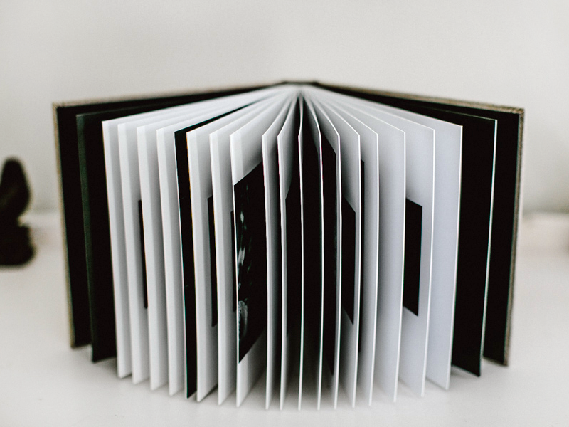 Matted Wedding Album Pages Spread Open