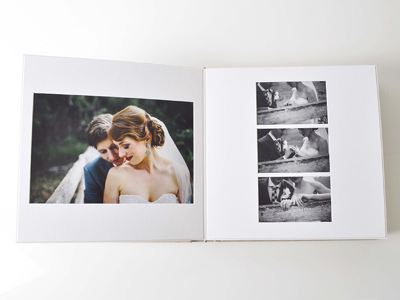 Matted Wedding Album Image Sizes on Pages