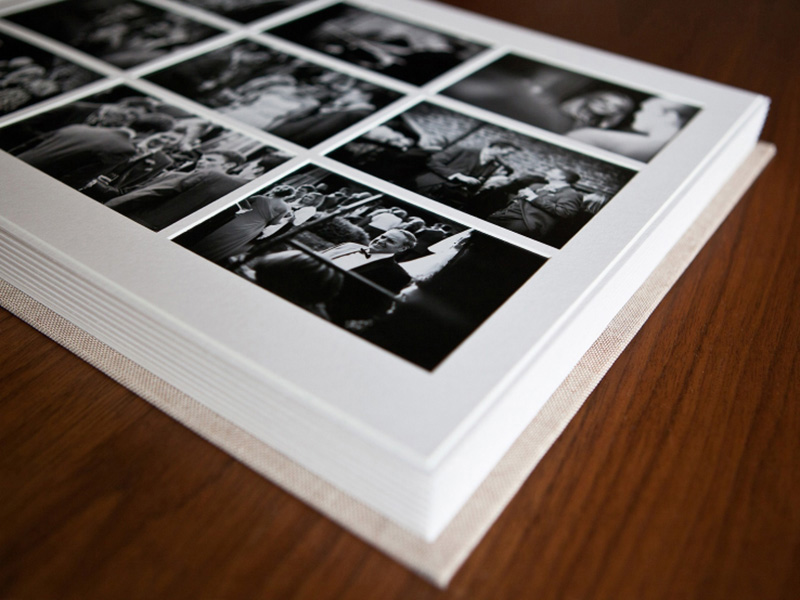 Matted Wedding Album Pages