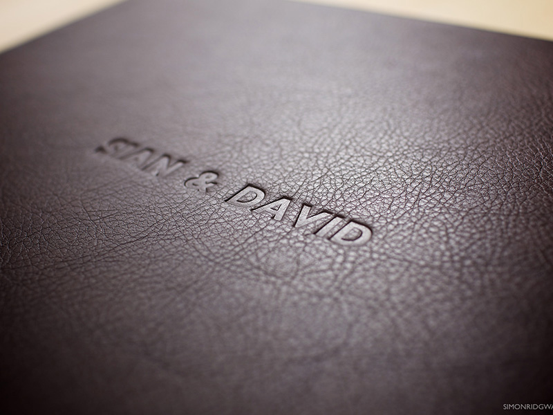 Matted Wedding Album Embossed Cover
