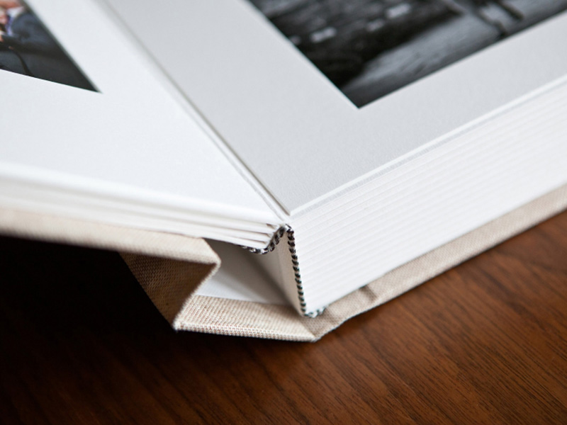 Matted Wedding Album Spine View