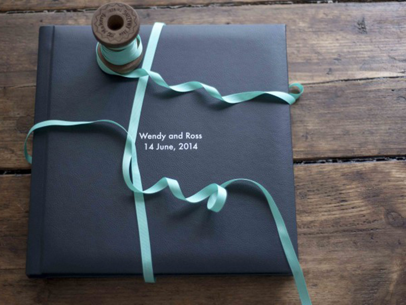 Storybook Wedding Album with Embossing on Cover