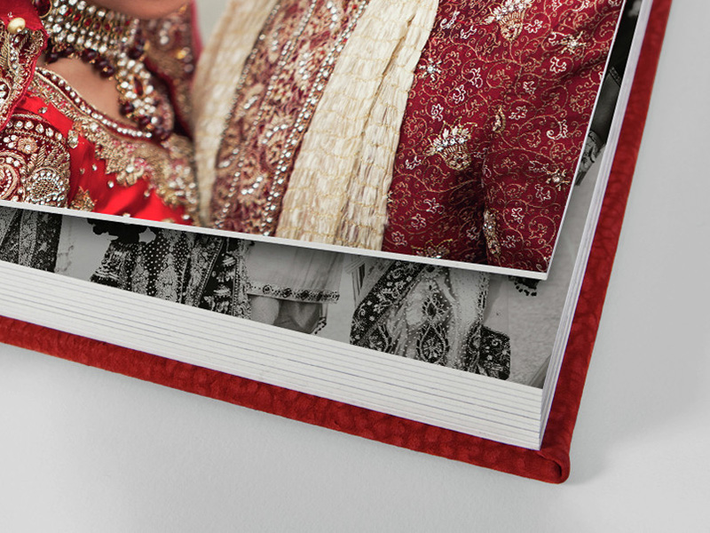 Storybook Wedding Album Pages Close Up